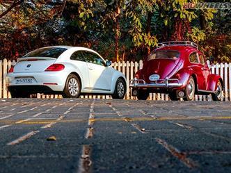 2016 Volkswagen Beetle vs 1963 Volkswagen Beetle rear