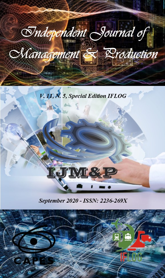 View Vol. 11 No. 5 (2020): Independent Journal of Management & Production (Special Edition IFLOG)